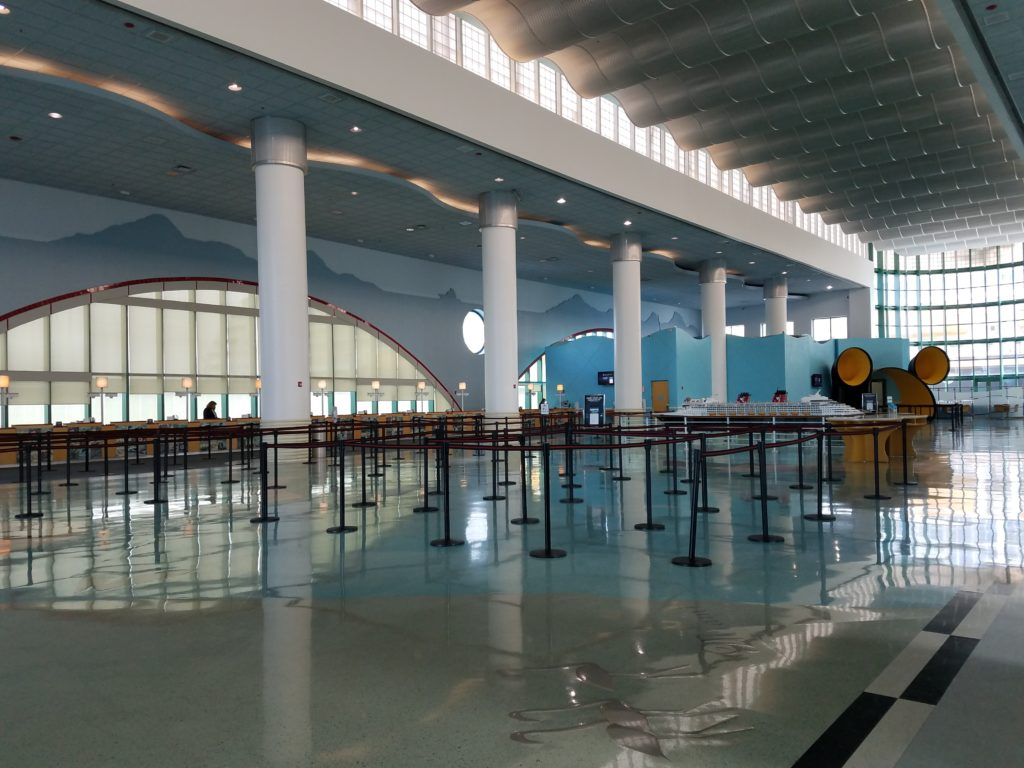 Disney Cruise Terminal Empty