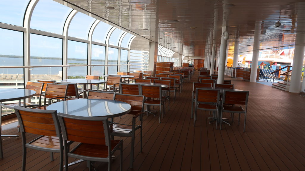 Disney Dream Empty Cabanas Seating