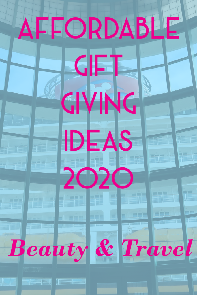 Affordable gift giving ideas for 2020 - beauty and travel.